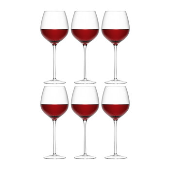 Wine Red Wine Glass - Set of 6 for 4