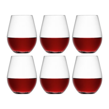 Wine Stemless Red Wine Glass - Set of 6 for 4