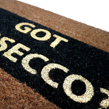 Got Prosecco? Glitter Door Mat