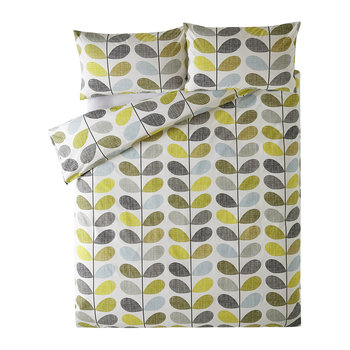 Scribble Stem Quilt Cover - Seagrass