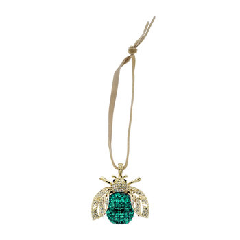 Sparkle Bee Christmas Tree Decoration - Emerald