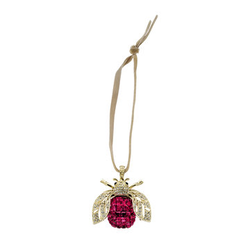 Sparkle Bee Christmas Tree Decoration - Fuchsia