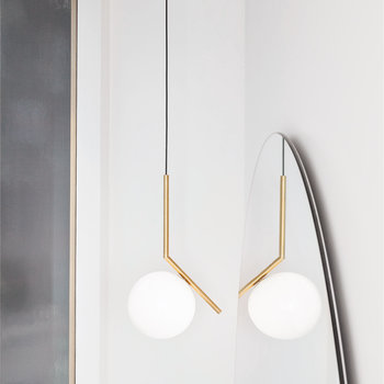IC S1 Suspension Light - Brushed Brass