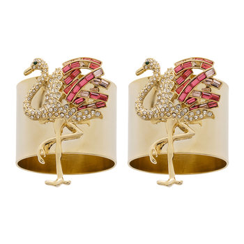 Flamingo Napkin Ring - Set of 2 - Pink