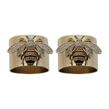 StrIpy Bee Napkin Ring - Set of 2