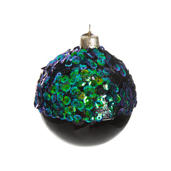 Sequin Top Tree Decoration - Green