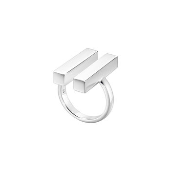 Aria Two Bar Silver Ring