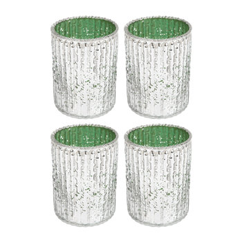 Silver Votives - Set of 4