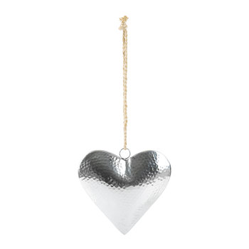 Large 3D Hammered Heart Hanging Ornament