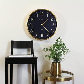 Mr Edwards Wall Clock - Radial Brass