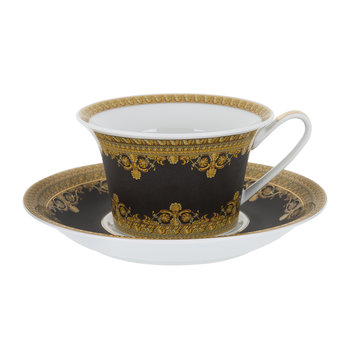 I Love Baroque Low Cup & Saucer - Set of 6 - Black