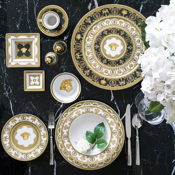I Love Baroque Deep Plate - White