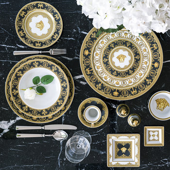 I Love Baroque Deep Plate - Black