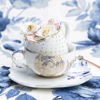 Royal White Teacup & Saucer