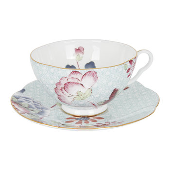 Cuckoo Teacup and Saucer - Blue