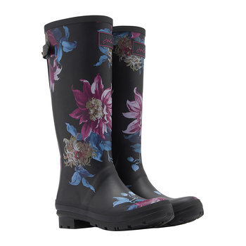 Women's Adjusta Wellies - Black Clematis