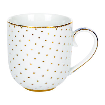 Royal White Dotty Mug