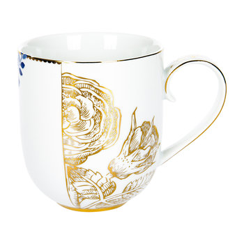 Royal White Floral Becher