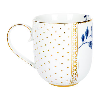 Royal White Floral Mug