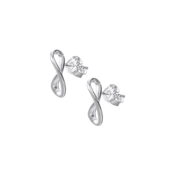 Infinity Loop Earrings - Silver