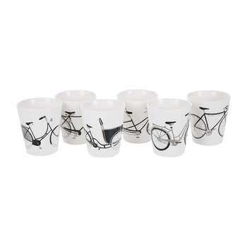 Bikes Cup - Set of 6