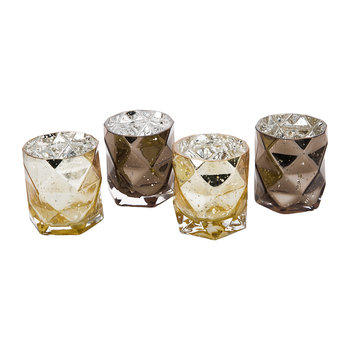 Diamond Candle Holders - Set of 4