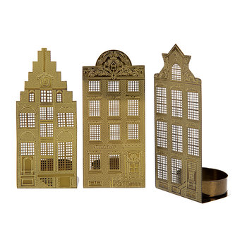 Waxinelight Tealight Holder - Set of 3 - Canal Houses