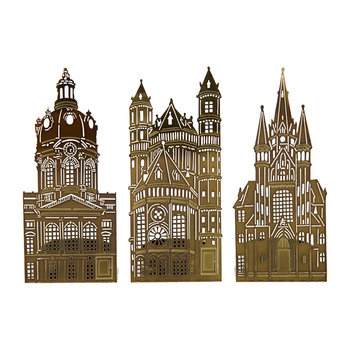 Waxinelight Tealight Holder - Set of 3 - Churches
