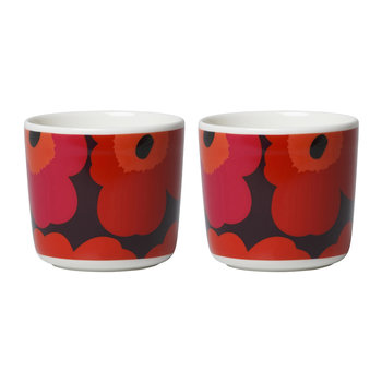 Unikko Coffee Cups - Set of 2 - Red