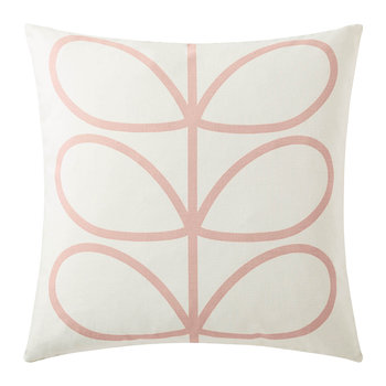 Linear Stem Reversible Cushion - 45x45cm - Pale Rose