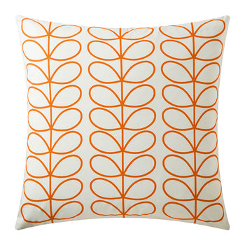 Small Linear Stem Reversible Pillow - 50x50cm - Persimmon