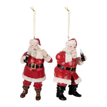 Coca Cola Santa Tree Decorations - Set of 2
