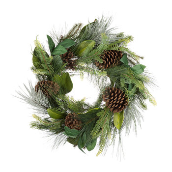 Mixed Needle and Pinecone Wreath