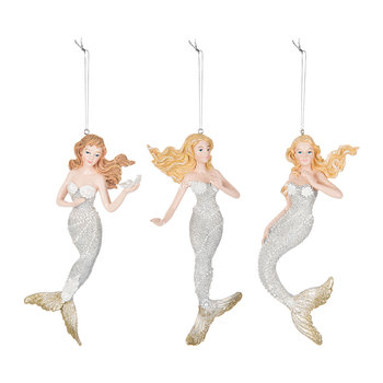 Mermaid Tree Decorations - Set of 3