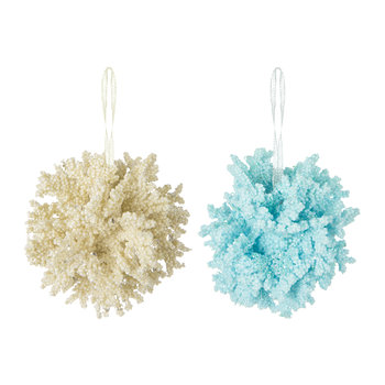 Mixed Coral Tree Decorations - Set of 2