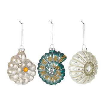 Mixed Shell Tree Decorations - Set of 3