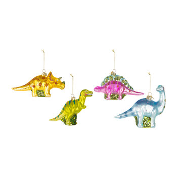 Noble Gems Dinosaur Tree Decorations - Set of 4