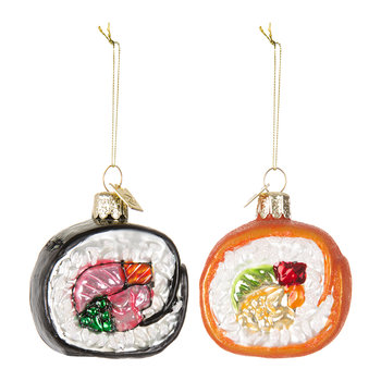Noble Gems Sushi Tree Decorations - Set of 2