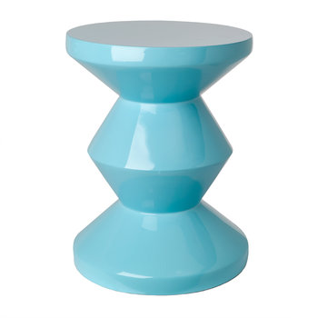 Zig Zag Stool - Light Blue