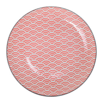 Starwave Dessert Plate - Small Wave - Red/Grey