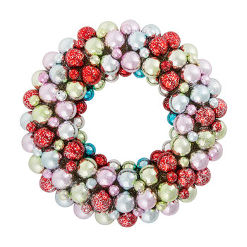 Multicolour Bauble Wreath