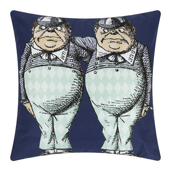 Alice In Wonderland Cushion - Tweedle Dee/Dumb