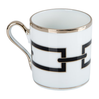 Catene Coffee Cup & Saucer - Nero
