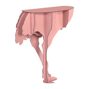 Mobilier de Compagnie - Ostrich Wall Console - Diva Pink