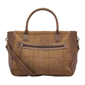 Day To Day Tweed Shoulder Bag - Brown Check