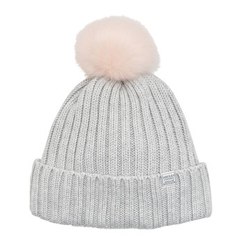 Detachable Pom-Pom Hat - Light Grey