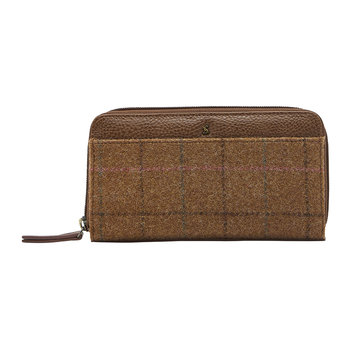 Fairford Tweed Purse - Brown Check