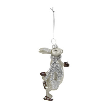 Skating Hare Tree Decoration