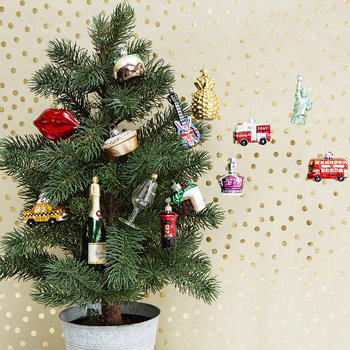 Little New York Taxi Tree Decoration