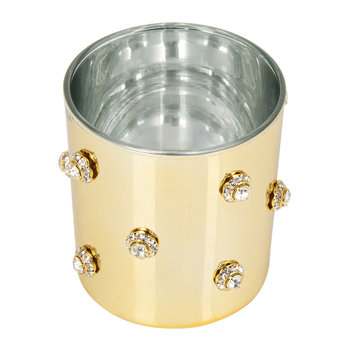 Nova Jeweled Glass Toothbrush Holder - Gold